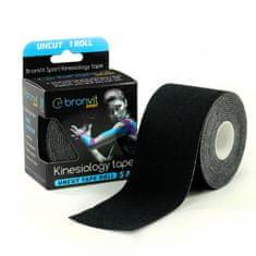 BronVit  Sport Kinesiology tape Uncut 5m x 5cm - černá