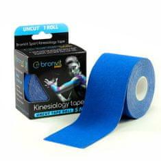 BronVit Sport Kinesiology tape Uncut 5m x 5cm - tmavě modrá
