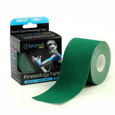 BronVit  Sport Kinesiology tape Uncut 5m x 5cm - tmavě zelená