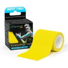 BronVit  Sport Kinesiology tape Uncut 1m x 5cm - žlutá