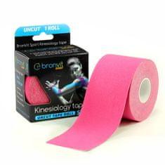 BronVit  Sport Kinesiology tape Uncut 5m x 5cm - růžová