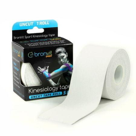 BronVit  Sport Kinesiology tape Uncut 5m x 5cm - bílá