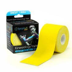 BronVit  Sport Kinesiology tape Uncut 5m x 5cm - žlutá