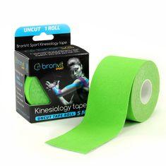 BronVit  Sport Kinesiology tape Uncut 5m x 5cm - zelená