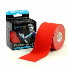 BronVit  Sport Kinesiology tape Uncut 5m x 5cm – červená