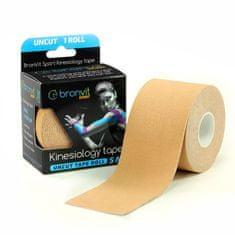 BronVit Sport Kinesiology tape Uncut 5m x 5cm – béžová
