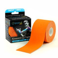BronVit  Sport Kinesiology tape Uncut 5m x 5cm - oranžová