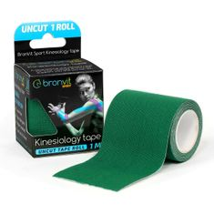 BronVit  Sport Kinesiology tape Uncut 1m x 5cm - tmavě zelená