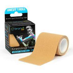 BronVit  Sport Kinesiology tape Uncut 1m x 5cm - béžová