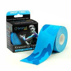 BronVit  Sport Kinesiology tape Uncut 5m x 5cm - maskovaná modrá