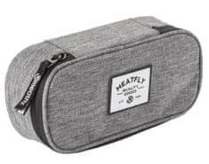 MEATFLY unisex šedé pouzdro School Pencil Case