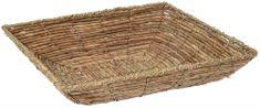 Marex Trade Čtvercový košík z banánových listů, 38 cm