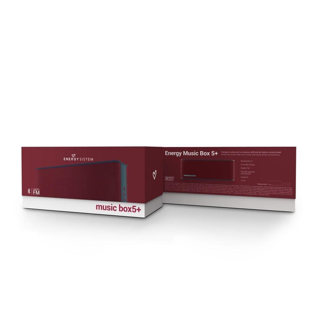 Energy Sistem Music Box 5+ přenosný reproduktor, červená - zánovní