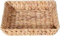 Marex Trade Štvorcový košík z vodného hyacintu, 30 cm