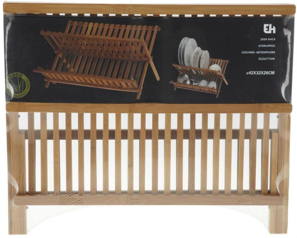 Koopman Skládací odkapávač na nádobí z bambusu