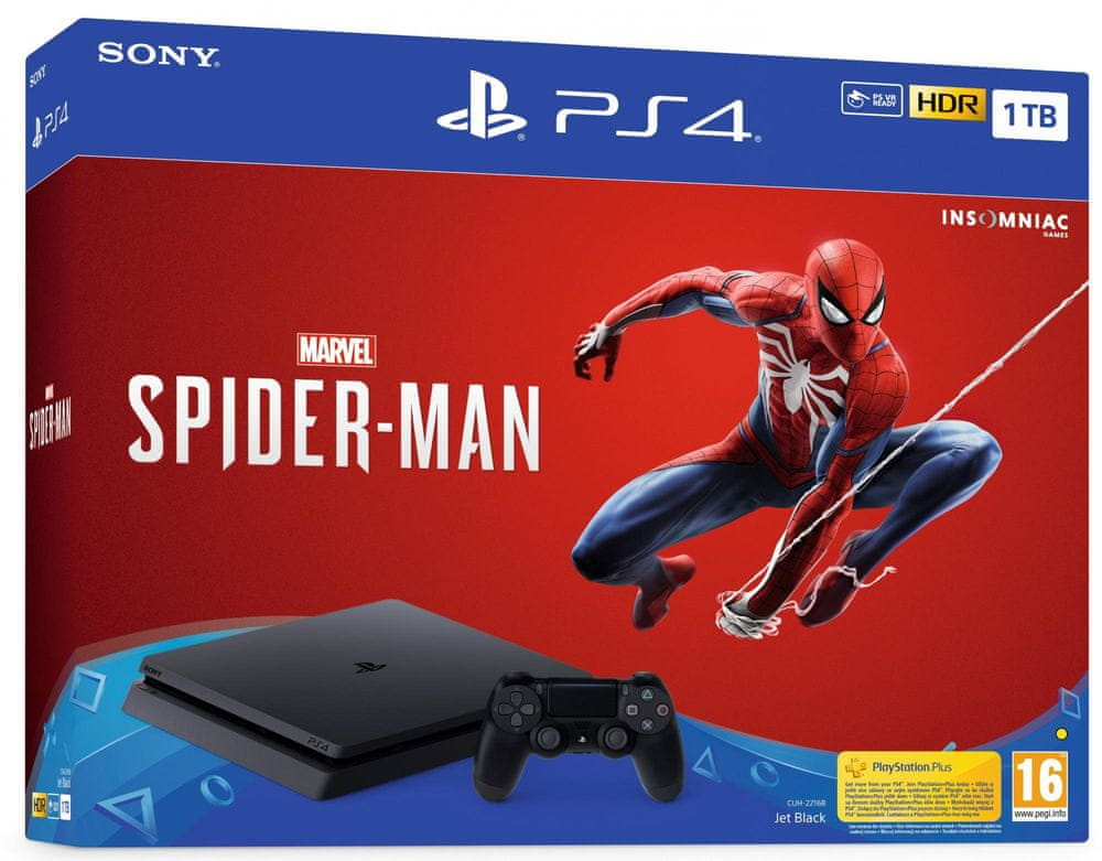 Sony PlayStation 4 Slim - 1TB + Spider-Man