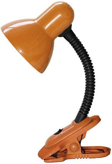 Rabalux Stolní lampa s klipem DENNIS, LED 40W, 230V oranžová