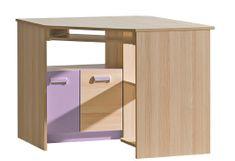 LOIRENTO, rohový stůl L11, jasan/fialová