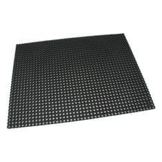 Černá gumová čistící venkovní vstupní rohož Octomat Mini - 100 x 100 x 1,25 cm