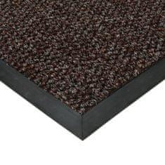 FLOMA Hnědá textilní zátěžová vstupní čistící rohož Fiona - 50 x 80 x 1,1 cm