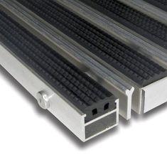 FLOMAT Gumová hliníková kartáčová venkovní vstupní rohož Alu Extra, FLOMAT - 2,7 cm