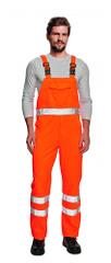 Cerva Pánske reflexné nohavice na traky Koros oranžová 54