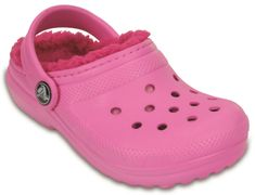 Crocs sandały Classic Lined Clog Party Pink/Candy pink