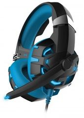 Omega gaming slušalke z mikrofonom VARR OVH5055BL HI-FI Stereo, z osvetlitvijo, modro/črne
