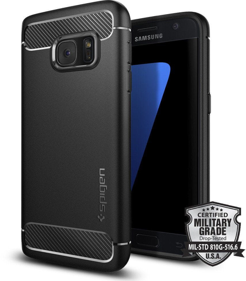 Spigen Rugged Armor, black - Galaxy S7 555CS20007