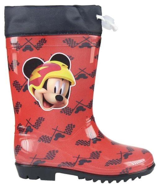 Disney chlapecké holínky Mickey Mouse 24 červená