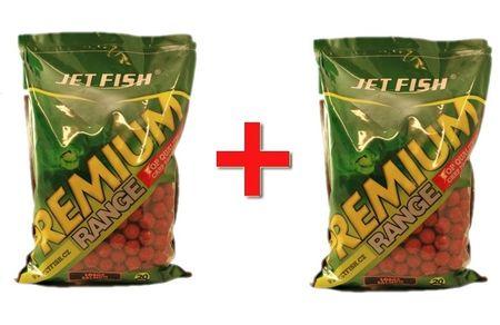 Jet Fish Boilie Premium New 2,5 kg 20 mm brusinka + Druhý Zdarma