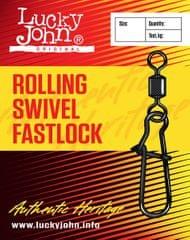 LUCKY JOHN Obratlík S Karabinkou Rolling Swivel Fast Lock