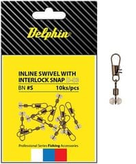 Delphin Obratlík S Průjezdem Inline Head Swivel With Interlock 10 ks