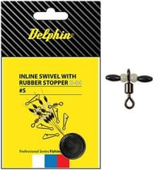 Delphin Obratlík Inline Swivel With Rubber Stopper 10 ks