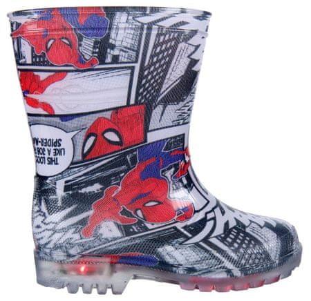 Disney chlapecké svítící holínky Spiderman 25 vícebarevná  457578e0a50