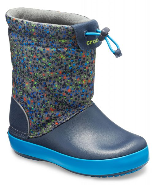 Crocs Crocband™ LodgePoint Graphic Boot Slate Gray/Navy 28-29 (C11)