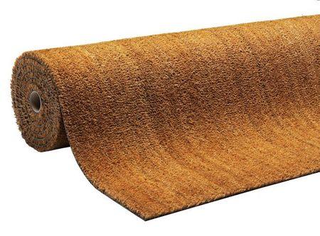 FLOMAT Béžová kokosová čistící vnitřní vstupní rohož Natural Coco - 180 x 100 x 1,5 cm