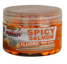 Starbaits Boilie Fluo plovoucí Spicy Salmon 80 g
