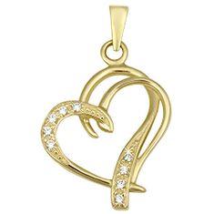 Brilio Módní zlatý přívěsek Srdce 249 001 00431 - 1,30 g zlato žluté 585/1000