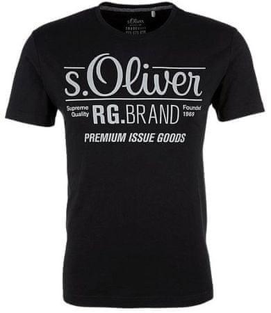 s.Oliver férfi póló L fekete  a472ad9d28
