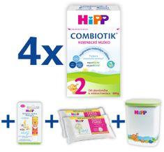 HiPP 2 BIO Combiotik 4x600 g + MILKBOX+BALZÁM+DUOWIPES