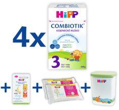HiPP 3 Junior Combiotik 4x600g + MILKBOX+BALZÁM+DUOWIPES