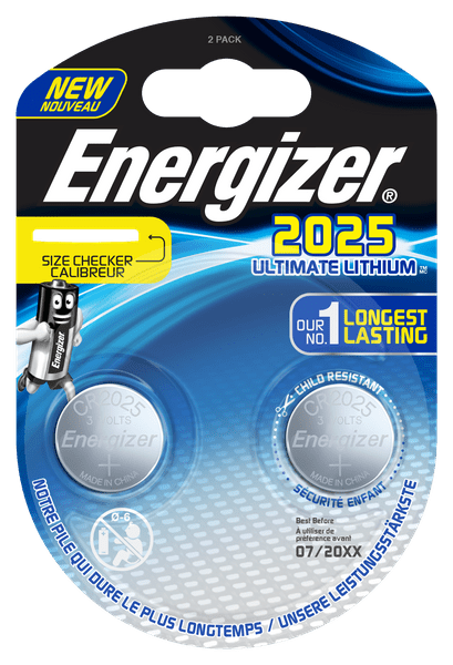 Energizer Ultimate Lithium CR2025 2pack ECR026