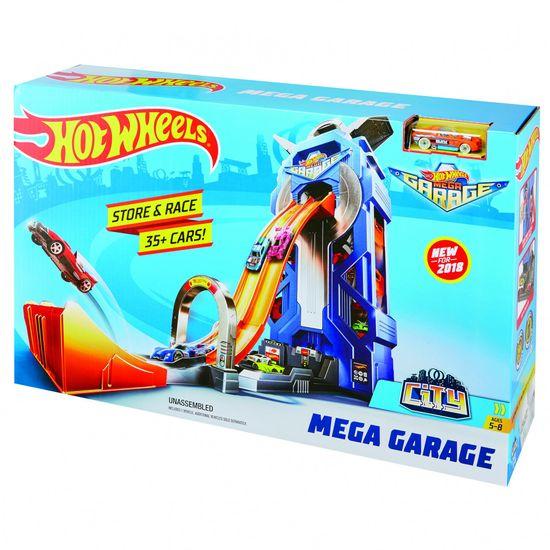 Hot Wheels City - garaža z dirkalnimi stezami