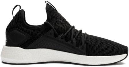 Puma moški tekaški čevlji Nrgy Neko Black White, 42, črno-beli