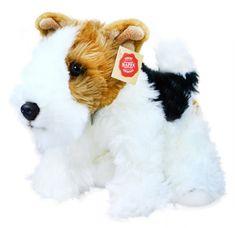 Rappa Plyšový pes foxteriér - Dášenka, 30 cm