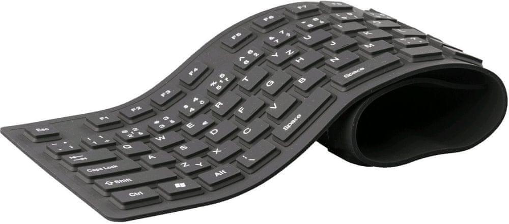 C-Tech FK-01, gélová, flexibilná, čierna USB, CZ/SK
