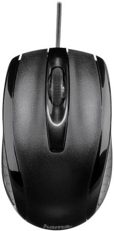 Hama AM5400 Vezetékes optikai egér, Fekete