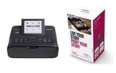 Canon prenosni foto tiskalnik CP1300 Selphy, črn + Selphy Creative kit