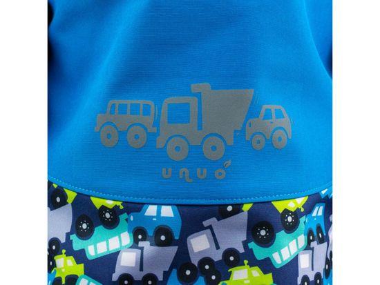 Unuo chlapčenská softshellová bunda s fleecom Autá